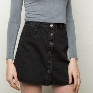 Brandy Melville Nana Black Jean Skirt